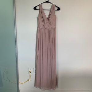 Azazie Tanacia dusty rose bridesmaid dress